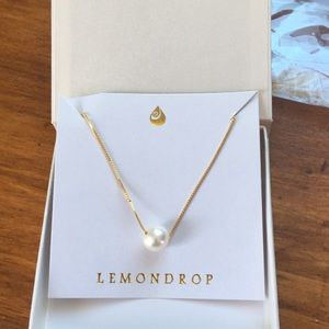 NWT single pearl gold necklace
